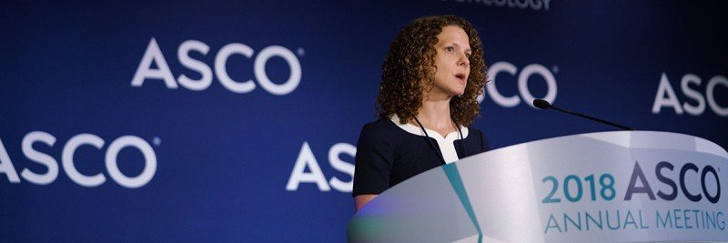Zsofia Stadler presents at the ASCO meeting