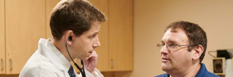 MSK sarcoma doctor William Tap with a patient